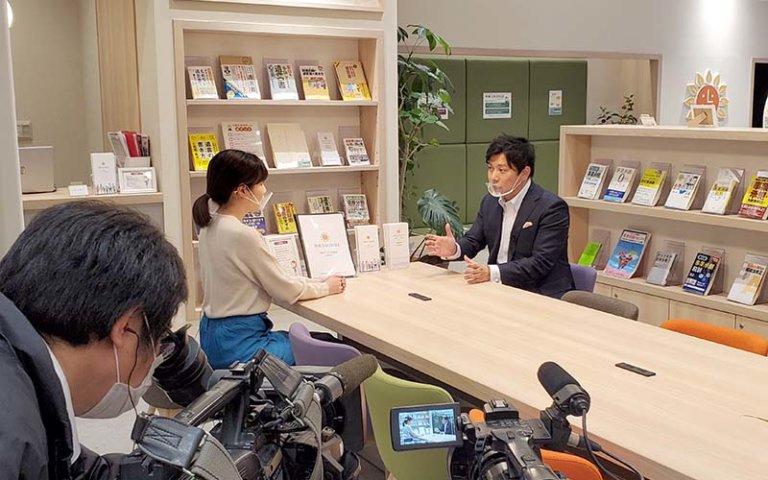 「相続LOUNGE」がジェイコム九州の番組取材を受けました